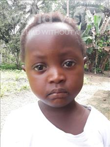 Choose a child to sponsor, like this little girl from Jaiama Bongor, Fatmata age 3