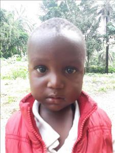 Choose a child to sponsor, like this little boy from Jaiama Bongor, Samu age 3