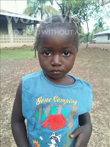 Choose a child to sponsor, like this little girl from Jaiama Bongor, Feimartha age 3