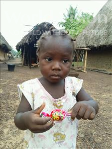 Choose a child to sponsor, like this little girl from Jaiama Bongor, Binta age 2