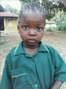 Choose a child to sponsor, like this little boy from Jaiama Bongor, Abubakar age 3