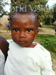 Choose a child to sponsor, like this little girl from Jaiama Bongor, Jebbeh age 1