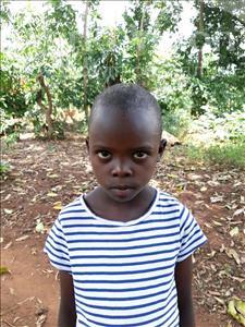 Choose a child to sponsor, like this little girl from Kibiga-Mulagi (Kimu), Grace age 7