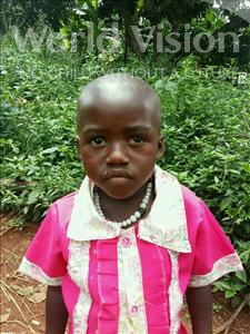 Choose a child to sponsor, like this little girl from Kibiga-Mulagi (Kimu), Milly age 5
