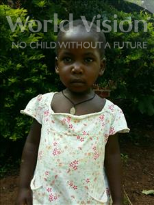 Choose a child to sponsor, like this little girl from Kibiga-Mulagi, Flavia age 3