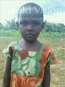 Choose a child to sponsor, like this little girl from Kibiga-Mulagi (Kimu), Namakula age 5