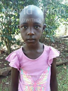 Choose a child to sponsor, like this little girl from Kibiga-Mulagi, Elivansoni age 8