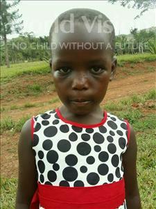 Choose a child to sponsor, like this little girl from Kibiga-Mulagi, Christine age 6