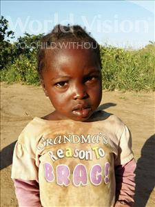 Choose a child to sponsor, like this little girl from Keembe, Jean age 4