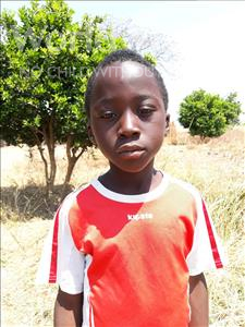 Choose a child to sponsor, like this little boy from Keembe, Elvis age 8