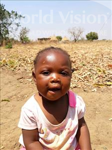 Choose a child to sponsor, like this little girl from Keembe, Rabbecca age 1