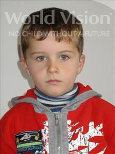 Choose a child to sponsor, like this little boy from Shkodra, Patrik age 6