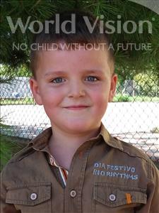 Choose a child to sponsor, like this little boy from Shkodra, Hidajet age 6