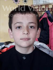 Choose a child to sponsor, like this little boy from Shkodra, Sidrit age 9