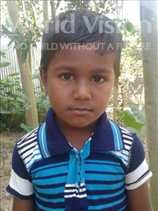 Choose a child to sponsor, like this little boy from Ghoraghat, Mosfiqur Rahim age 5