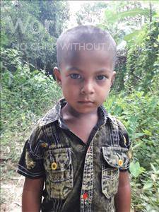 Choose a child to sponsor, like this little boy from Ghoraghat, Umor Faruk age 4