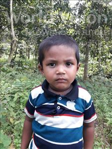 Choose a child to sponsor, like this little boy from Ghoraghat, Mohaiminu Rahman age 3