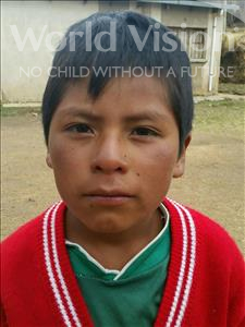 Choose a child to sponsor, like this little boy from Mosoj Punchay, Wilder age 10