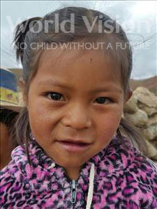 Choose a child to sponsor, like this little girl from Mosoj Punchay, Norma age 4