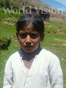 Choose a child to sponsor, like this little girl from Mosoj Punchay, Maribel age 7