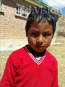 Choose a child to sponsor, like this little boy from Mosoj Punchay, Marcial age 6
