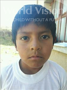 Choose a child to sponsor, like this little boy from Mosoj Punchay, Benjamin Rodrigo age 7