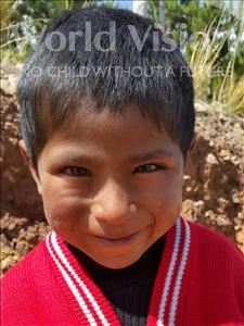 Choose a child to sponsor, like this little boy from Mosoj Punchay, Juan age 6