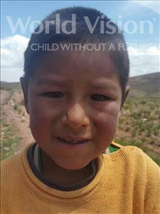 Choose a child to sponsor, like this little boy from Mosoj Punchay, Valerio age 7