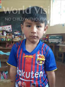 Choose a child to sponsor, like this little boy from Khantati, Alejandro age 5