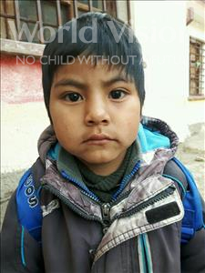 Choose a child to sponsor, like this little boy from Khantati, Jhonny age 5