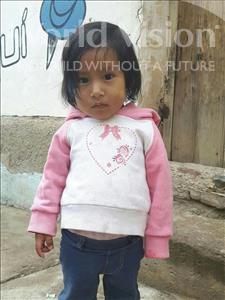 Choose a child to sponsor, like this little girl from Khantati, Shisel Britan age 1