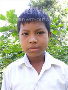 Choose a child to sponsor, like this little boy from Soutr Nikom, Makara age 11