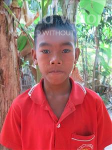 Choose a child to sponsor, like this little boy from Soutr Nikom, Visal age 11