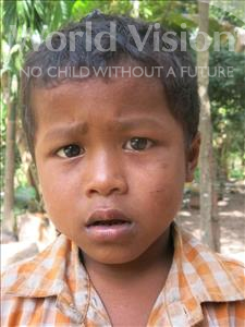 Choose a child to sponsor, like this little boy from Soutr Nikom, Makara age 8