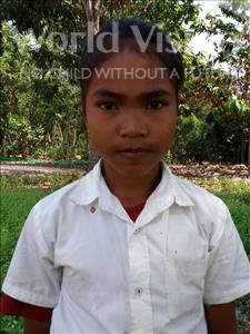 Choose a child to sponsor, like this little girl from Soutr Nikom, Sreynith age 12