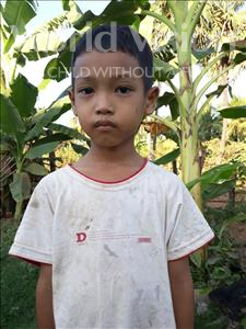 Choose a child to sponsor, like this little boy from Soutr Nikom, Sok Visal age 6