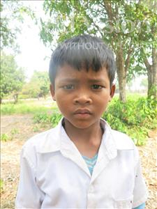Choose a child to sponsor, like this little Boy from Soutr Nikom, Phy age 9