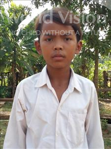 Choose a child to sponsor, like this little boy from Soutr Nikom, Rith age 13