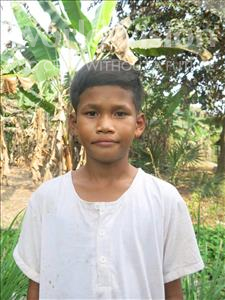 Choose a child to sponsor, like this little Boy from Soutr Nikom, Ya age 9