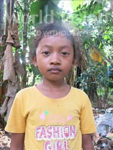 Choose a child to sponsor, like this little girl from Soutr Nikom, Ket Somany age 8