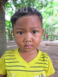 Choose a child to sponsor, like this little boy from Soutr Nikom, Siev Vin age 5