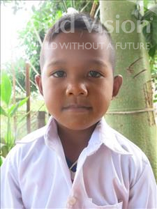 Choose a child to sponsor, like this little boy from Soutr Nikom, Kisovanna age 6