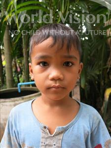 Vannak, aged 6, from Cambodia, is hoping for a World Vision sponsor
