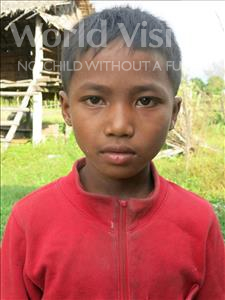 Choose a child to sponsor, like this little boy from Soutr Nikom, Chomroeun age 10