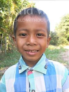 Choose a child to sponsor, like this little boy from Soutr Nikom, Vitou age 7