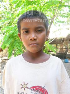 Choose a child to sponsor, like this little boy from Soutr Nikom, Chanly age 12