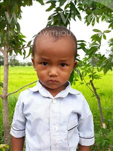 Choose a child to sponsor, like this little boy from Soutr Nikom, Veha age 3