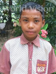 Choose a child to sponsor, like this little boy from Soutr Nikom, Ravy age 9