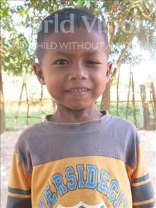Choose a child to sponsor, like this little boy from Soutr Nikom, Vechhith age 6