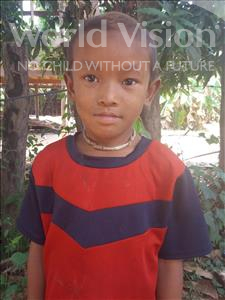 Rachhith, aged 6, from Cambodia, is hoping for a World Vision sponsor